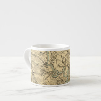 Hughes Military Map Of Richmond and Petersburgh Espresso Cup