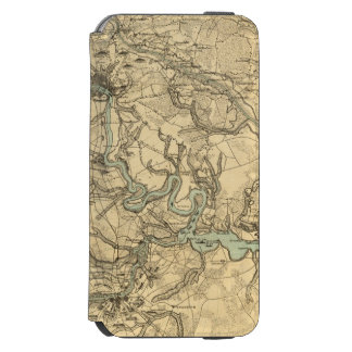 Hughes Military Map Of Richmond and Petersburgh iPhone 6/6s Wallet Case