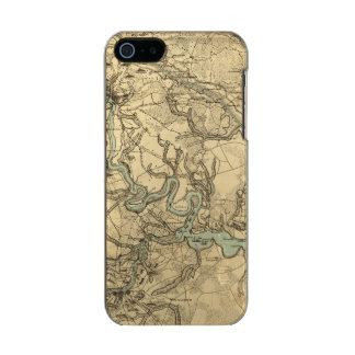 Hughes Military Map Of Richmond and Petersburgh Metallic Phone Case For iPhone SE/5/5s