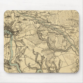 Hughes Military Map Of Richmond and Petersburgh Mouse Pad