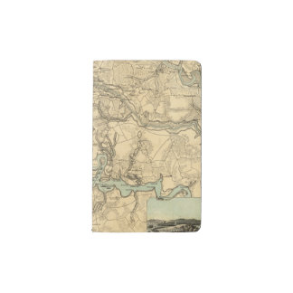 Hughes Military Map Of Richmond and Petersburgh Pocket Moleskine Notebook