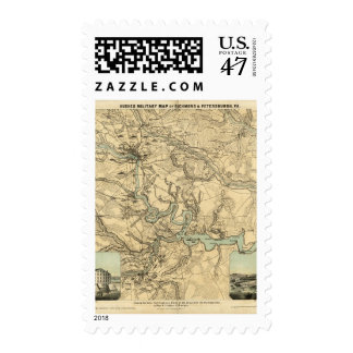 Hughes Military Map Of Richmond and Petersburgh Postage