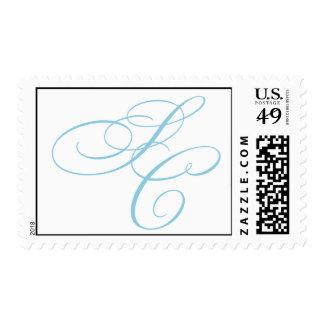 Hughes Monogram Postage Stamp