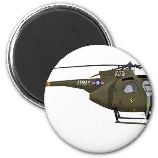 Hughes OH-6 Cayuse Cav 2 Inch Round Magnet