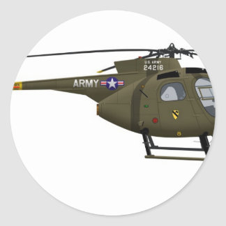 Hughes OH-6 Cayuse Cav Classic Round Sticker