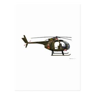 Hughes OH-6 Cayuse Miss Clawd Postcard