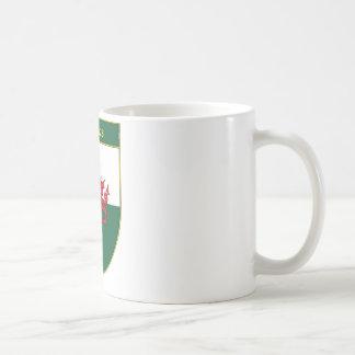 Hughes Welsh Flag Shield Coffee Mug