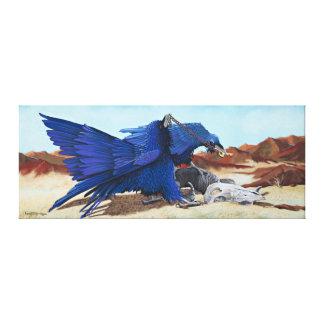 Huginn y Muninn - cuervos con el tesoro Impresión En Tela