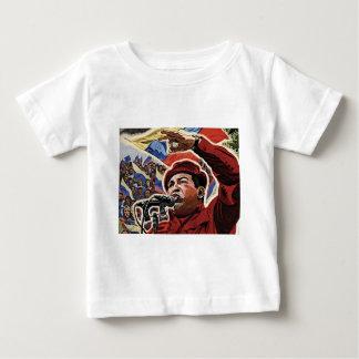Hugo Chavez - Cartoon Revolution style Baby T-Shirt
