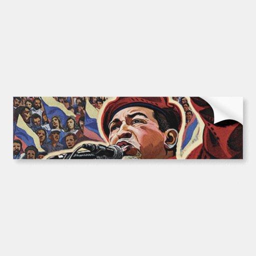 Hugo Chavez - Cartoon Revolution style Car Bumper Sticker