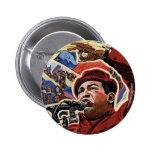 Hugo Chavez - Cartoon Revolution style Buttons