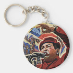 Hugo Chavez - Cartoon Revolution style Keychain