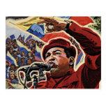 Hugo Chavez - Cartoon Revolution style Postcard