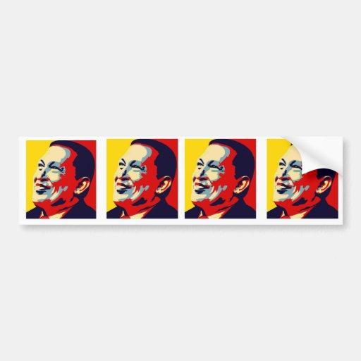 Hugo Chavez - estilo de la esperanza de Obama Etiqueta De Parachoque