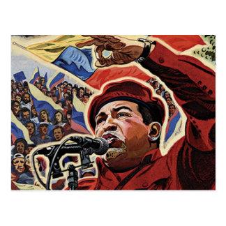 Hugo Chavez - estilo de la revolución del dibujo Postales