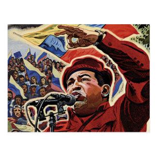 Hugo Chavez - estilo de la revolución del dibujo Tarjetas Postales