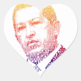Hugo Chavez - Hugo en estilo de las palabras Pegatina En Forma De Corazón