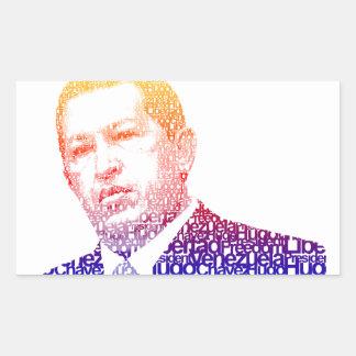 Hugo Chavez - Hugo en estilo de las palabras Pegatina Rectangular