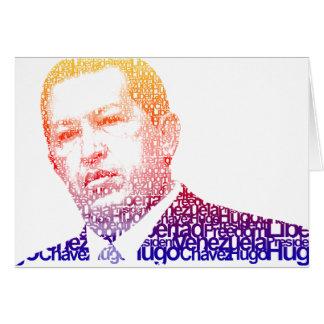 Hugo Chavez - Hugo en estilo de las palabras Tarjeta De Felicitación