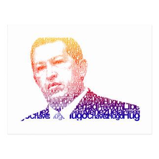 Hugo Chavez - Hugo in Words style Postcard