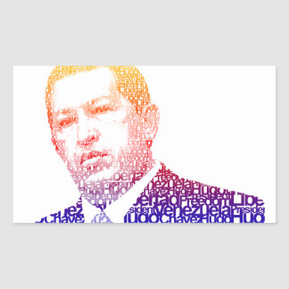 Hugo Chavez - Hugo in Words style Rectangular Sticker