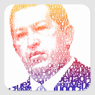 Hugo Chavez - Hugo in Words style Stickers