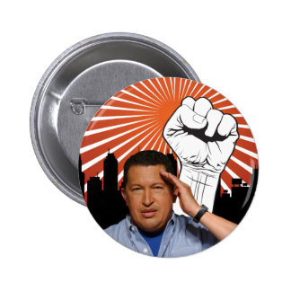 Hugo Chavez - Hugo Salutes style 2 Inch Round Button