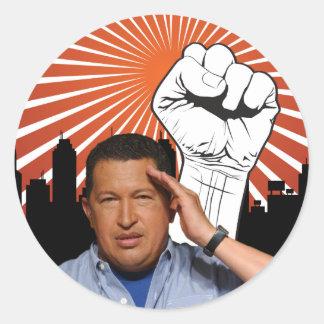 Hugo Chavez - Hugo Salutes style Classic Round Sticker