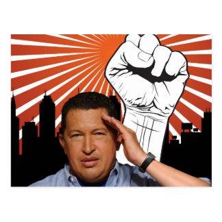 Hugo Chavez - Hugo Salutes style Post Card
