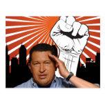 Hugo Chavez - Hugo Salutes style Postcard