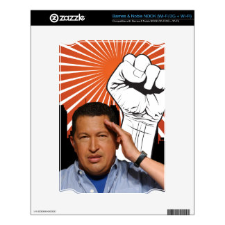 Hugo Chavez - Hugo Salutes style Decals For The NOOK