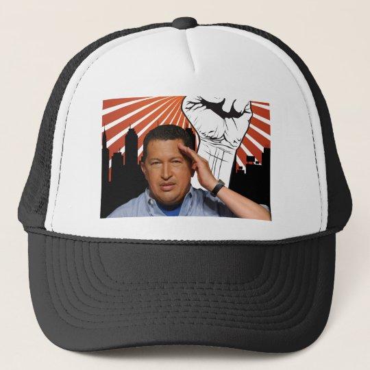 Hugo Chavez - Hugo Salutes style Trucker Hat