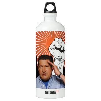 Hugo Chavez - Hugo Salutes style Water Bottle