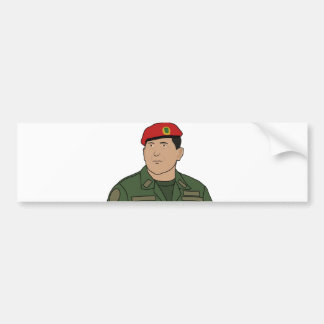 Hugo Chavez - Hugo the Red Hat Cartoon style Bumper Sticker