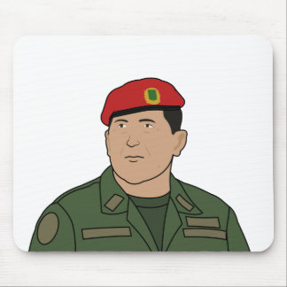 Hugo Chavez - Hugo the Red Hat Cartoon style Mouse Pad