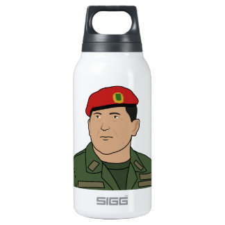 Hugo Chavez - Hugo the Red Hat Cartoon style 10 Oz Insulated SIGG Thermos Water Bottle