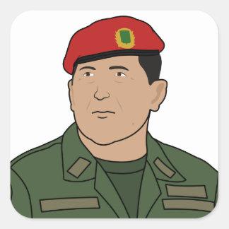 Hugo Chavez - Hugo the Red Hat Cartoon style Square Sticker