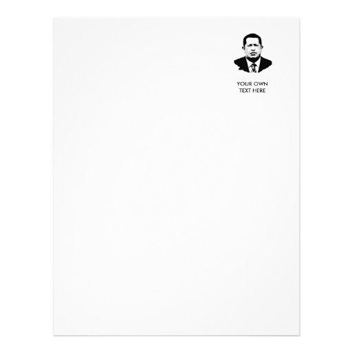 Hugo Chavez Letterhead Design