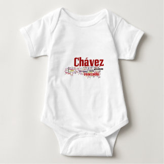 Hugo Chavez - Many Colorful Words style Baby Bodysuit