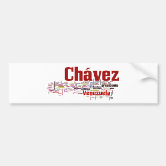 Hugo Chavez - Many Colorful Words style Bumper Sticker