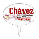 Hugo Chavez - Many Colorful Words style Cake Topper
