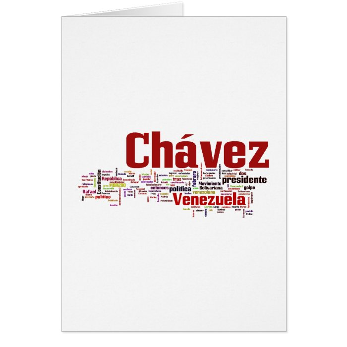 Hugo Chavez - Many Colorful Words style Card