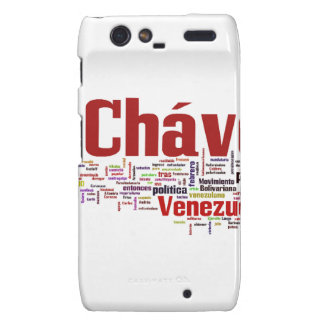Hugo Chavez - Many Colorful Words style Motorola Droid RAZR Covers