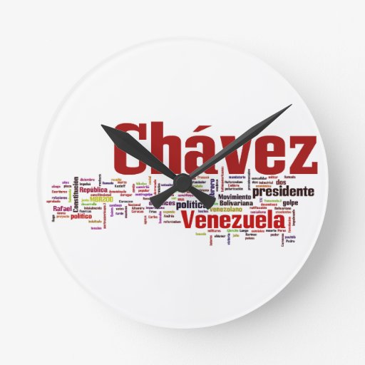 Hugo Chavez - Many Colorful Words style Clock