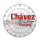 Hugo Chavez - Many Colorful Words style Dart Board