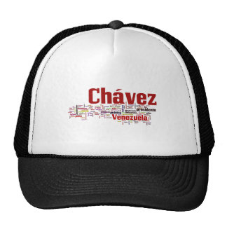 Hugo Chavez - Many Colorful Words style Mesh Hats
