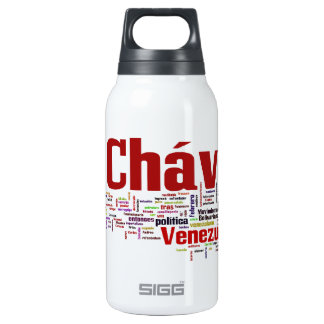 Hugo Chavez - Many Colorful Words style Insulated Water Bottle