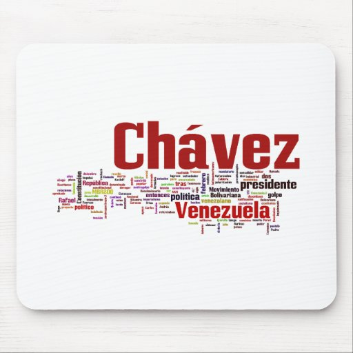 Hugo Chavez - Many Colorful Words style Mouse Pad