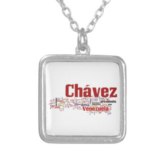 Hugo Chavez - Many Colorful Words style Personalized Necklace