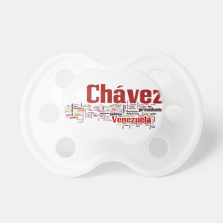 Hugo Chavez - Many Colorful Words style Baby Pacifiers